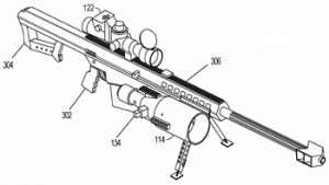 Laser weapon patent drawing